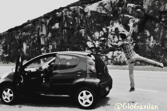 Entusiasmo en el viaje. Isla de Skye (Escocia).
